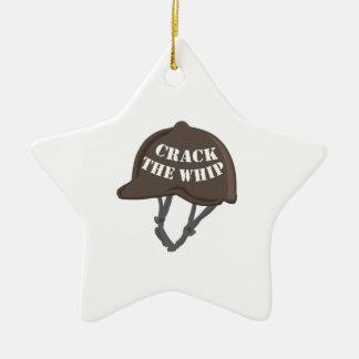 Crack The Whip Ceramic Star Ornament