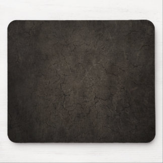 Cracked Aged and Rough Dark Brown Vintage Texture Mousepads