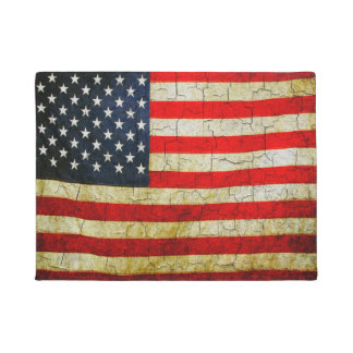 Cracked America flag Doormat