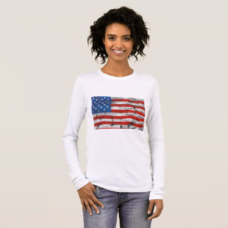 Cracked American flag shirt