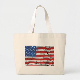 Cracked American flag tote