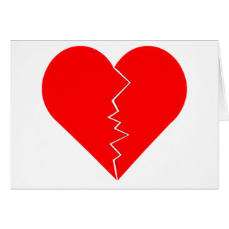 Cracked And Broken Heart Card