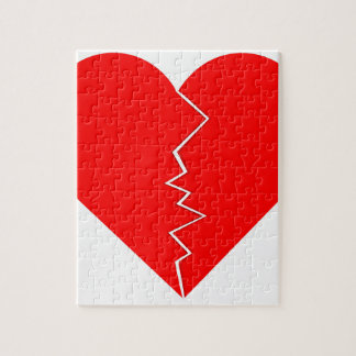 Cracked And Broken Heart Jigsaw Puzzle