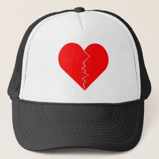 Cracked And Broken Heart Trucker Hat