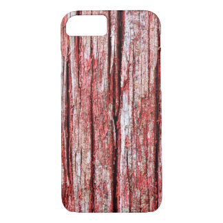 Cracked and softened red board wall iPhone 7 case