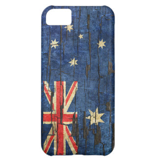Cracked Australian Flag Peeling Paint Effect iPhone 5C Covers