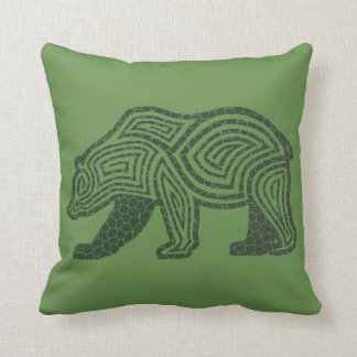 Cracked Bear | Cracked Wolf Throw Pillow
