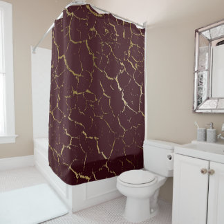 Cracked Burgundy Maroon Bordeaux Gold Luxury