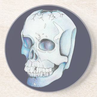 Cracked Crystal Skull Coaster