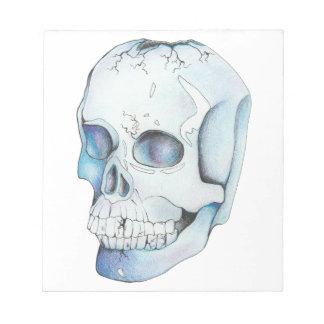 Cracked Crystal Skull Notepad