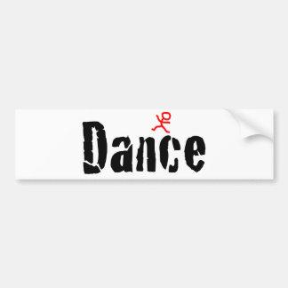 Cracked Dance Design Bumper Sticker