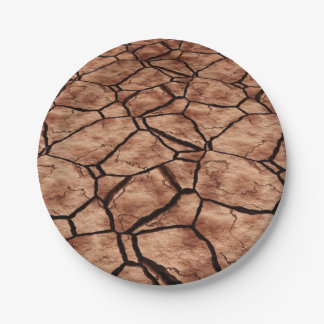 Cracked Earth 7 Inch Paper Plate