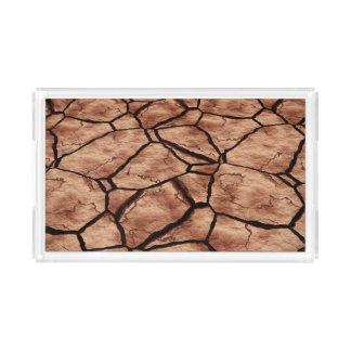 Cracked Earth Acrylic Tray