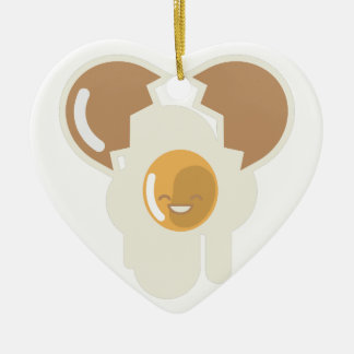Cracked Egg Ceramic Heart Ornament