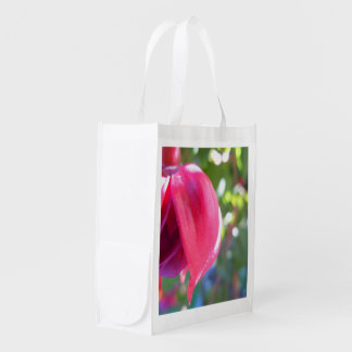 Cracked Fuschia Reusable Grocery Bag