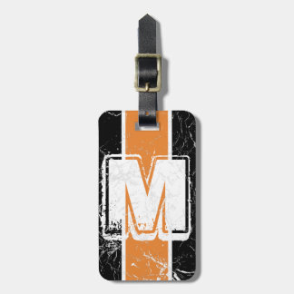 Cracked Hard Orange Tag For Bags