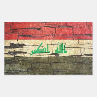 Cracked Iraqi Flag Peeling Paint Effect Sticker