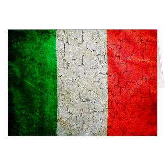 Cracked Italy flag Card