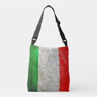Cracked Italy flag Crossbody Bag