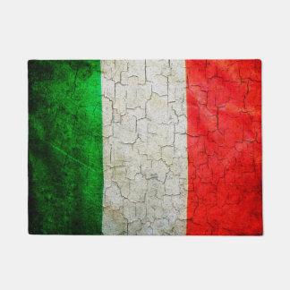 Cracked Italy flag Doormat