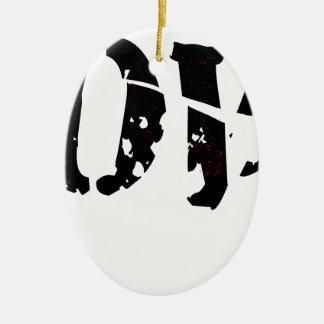 Cracked Love Ceramic Oval Ornament