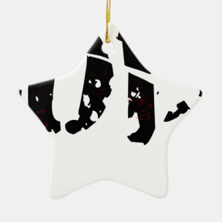 Cracked Love Ceramic Star Ornament