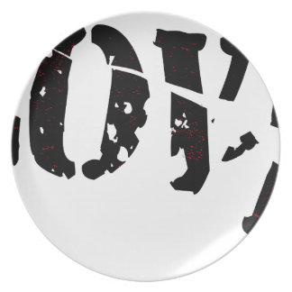 Cracked Love Party Plates