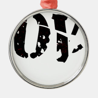 Cracked Love Silver-Colored Round Ornament