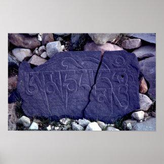 Cracked Mani stone Poster