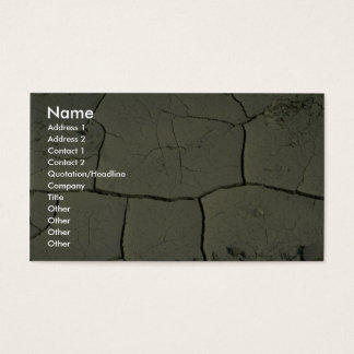 Cracked mud business card