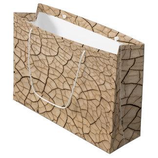 Cracked Mud Large Gift Bag