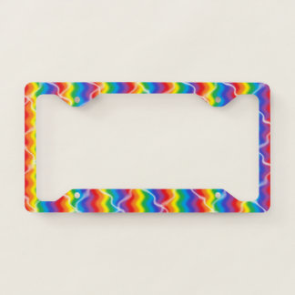 Cracked Rainbow License Plate Frame