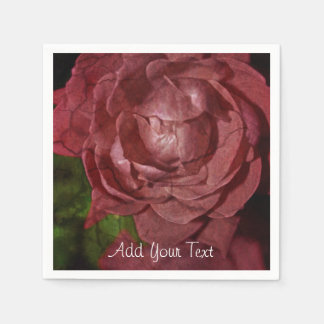 Cracked Red Rose by Shirley Taylor Paper Napkin