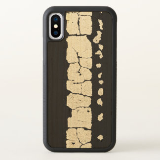 Cracked Road Paint Pattern iPhone X Case