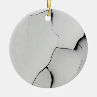 Cracked Round Ceramic Ornament
