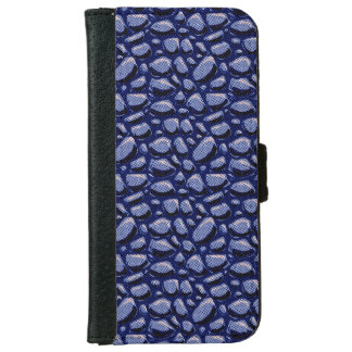 cracked stone hand drawn tiled pattern halftone d iPhone 6 wallet case