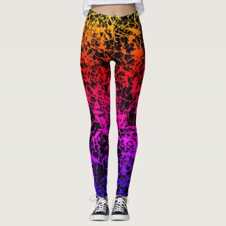 Cracked Sunset Leggings