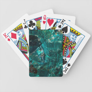 Cracked Teal Sugar Bicycle Playing Cards