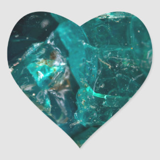 Cracked Teal Sugar Heart Sticker