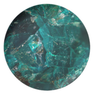 Cracked Teal Sugar Plate