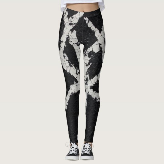 cracked tree leggings