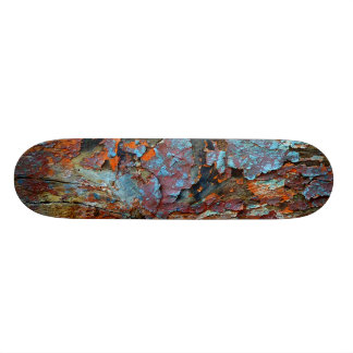 Cracked wood skateboard. custom skateboard