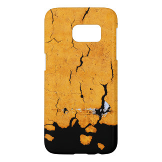 Cracked Yellow Road Paint Samsung Galaxy S7 Case