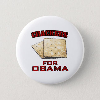 Crackers for Obama 2 Inch Round Button