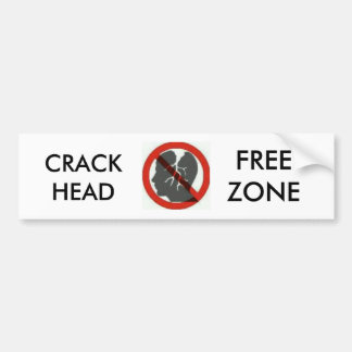 crackhead free zone bumber stickers bumper sticker