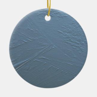 Cracking Ice Round Ceramic Ornament