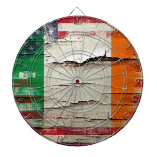 Crackle Paint | Irish American Flag Dartboards