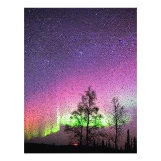 Crackle Texture Art Northern Lights Sky Alaska Customized Letterhead