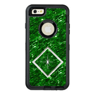 Crackled Glass Birthstone Design - May Emerald OtterBox Defender iPhone Case