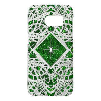 Crackled Glass Birthstone Design - May Emerald Samsung Galaxy S7 Case